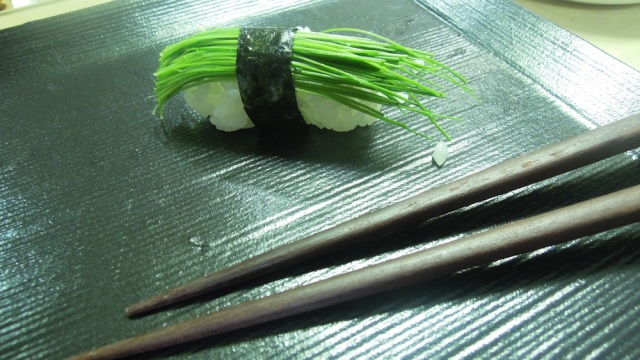 scallion sprout sushi